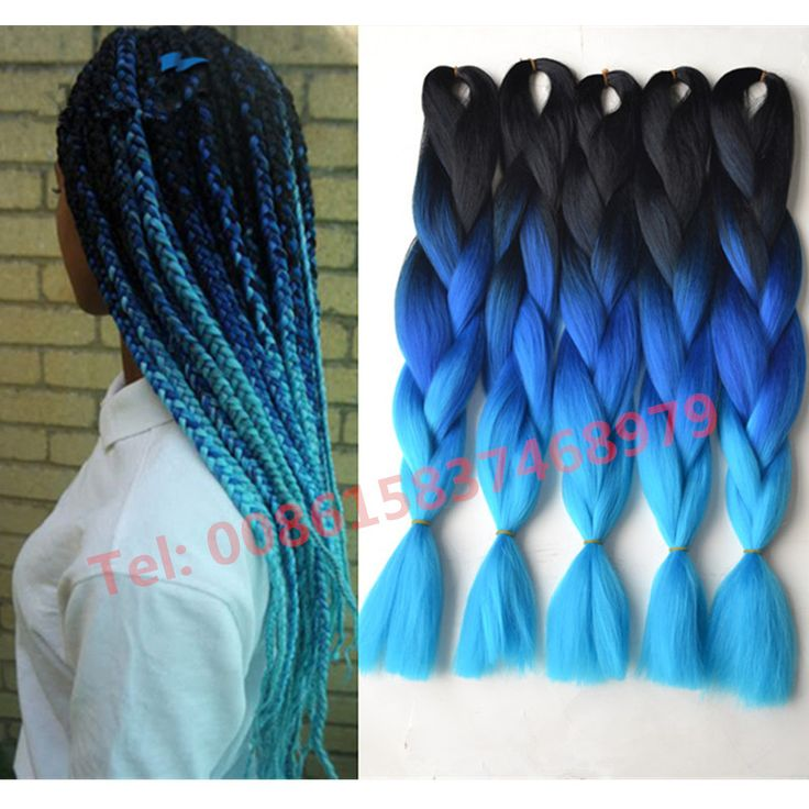 Hot Kanekalon ombre braiding hair three toned jumbo braids havana mambo twist synthetic Box braid extension Black ombre Blue #http://www.jennisonbeautysupply.com/ http://www.jennisonbeautysupply.com/products/hot-kanekalon-ombre-braiding-hair-three-toned-jumbo-braids-havana-mambo-twist-synthetic-box-braid-extension-black-ombre-blue/, Kanekalon Jumbo Braid Material: 100% Synthetic Hair Color: Black+Blue+Light Blue Weight: 100g/pc ...