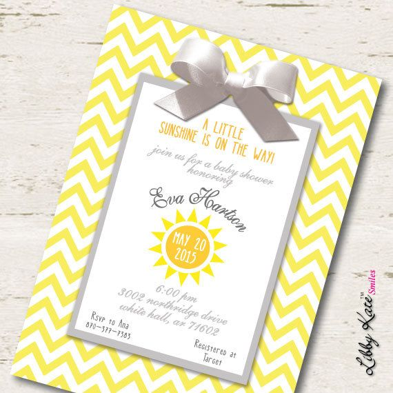 You Are My Sunshine Baby Shower Invitation By LibbyKateSmiles