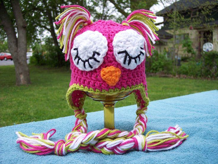 Crochet Owl hat Pattern: Hats Patterns, Free Crochet, Owl Crochet Hats, Crochet Patterns, Crochet Owl, Owl Hats, Crochet Knits, Owl Patterns, Sleep Owl