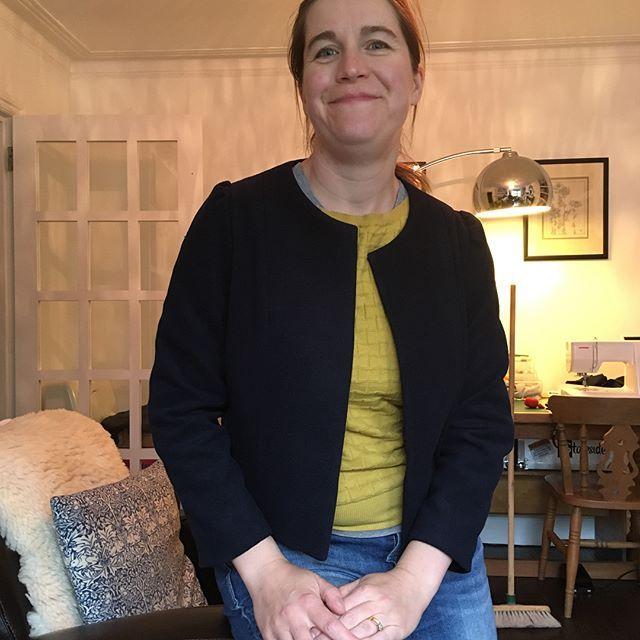 Smug face = jacket finished! | Sew Over It Coco Jacket