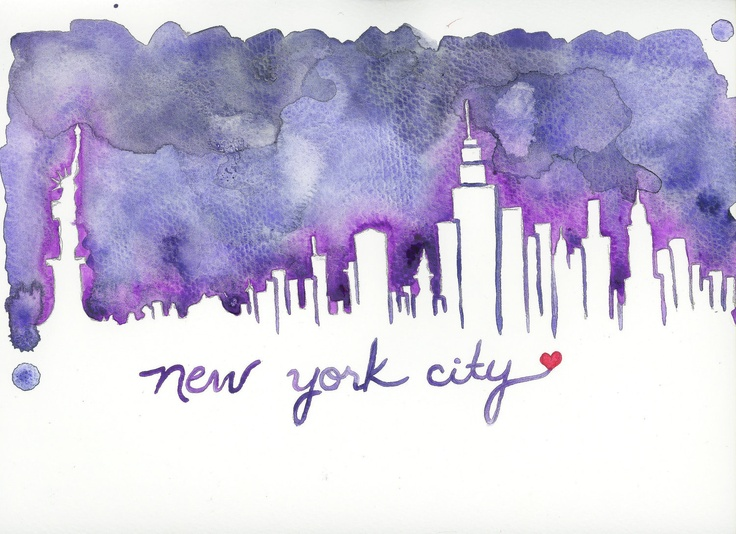 New York City Skyline Print - Hurricane Sandy Relief. $20.00, via Etsy.