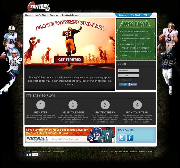 Fantasyv2 is a new and unique way to play NFL Fantasy Playoffs. It allows users to register/login with their Facebook Account, Create Leagues, Invite Others and Pick their team for the Playoffs. This was designed & developed by our team @Snyxius Technologies using MVC Architecture. The entire application was developed on LAMP and was integrated with Facebook Apps.  Link:   http://www.fantasyv2.com