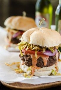 Mr. Crumby's Kitchen: Dominican Chimichurri Burger #SundaySupper - The Crumby Cupcake