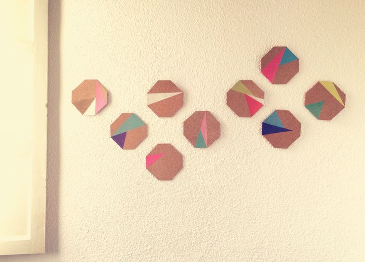 DIY bedroom decoration triangles and polygons