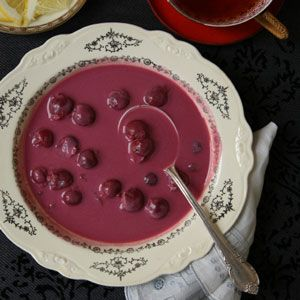 Dessert soup! This Hungarian dish that makes use of tangy sour cherries is a delightfully chilly end to a summertime meal.