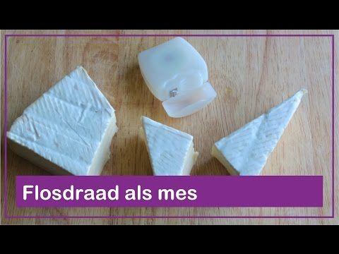 Flosdraad als mes - Foodie Tips #17 - Foodgloss - YouTube
