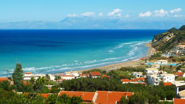 View od Agios Stefanos #beach #Corfu