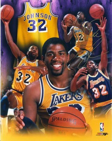 "Earvin ""Magic"" Johnson Jr. (born August 14, 1959) is a retired American professional basketball player who played point guard for the Los Angeles Lakers of the National Basketball Association (NBA). After winning championships in high school and college, Johnson was selected first overall in the 1979 NBA Draft by the Lakers."