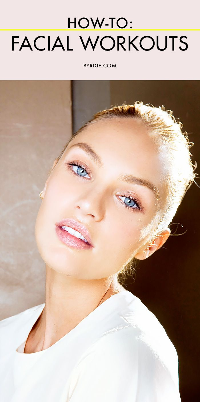 3 facial exercises that will give you glowing, toned skin and better cheekbones.