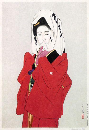 hanga gallery . . . torii gallery: Start of the Dance by Tatsumi Shimura