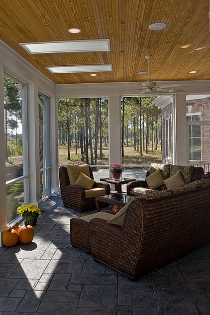 Bead Board Ceiling On Screen Porch Add Skylights For Some