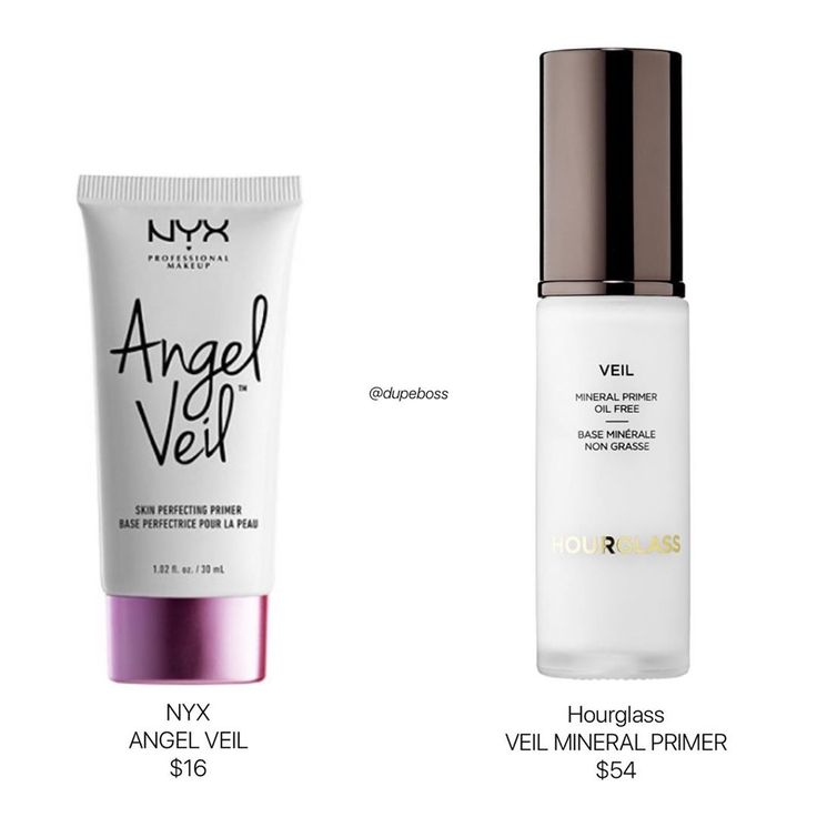 Dupeboss On Instagram Let S Compare Products Nyxcosmetics Angel Veil 16 For 1 02oz Hourglasscosmetics Veil M Nyx Cosmetics Make Up Dupes Beauty Dupes