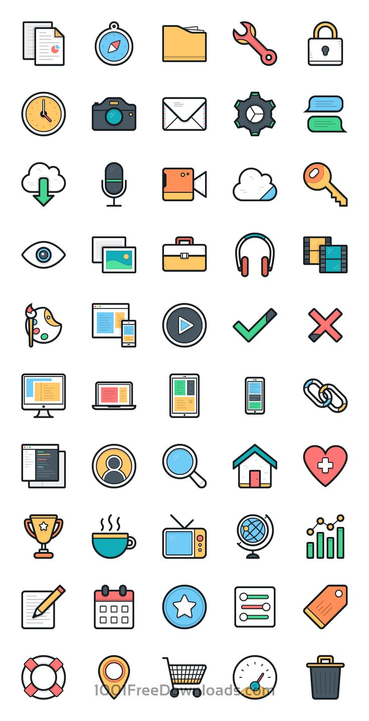 Free Downloads: 100 Lulu Vector Icons - MightyDeals