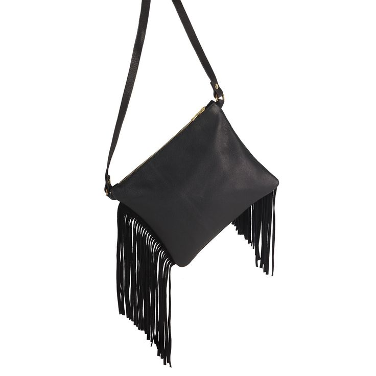Sarah Baily | Teri Messenger Bag - Black leather / suede