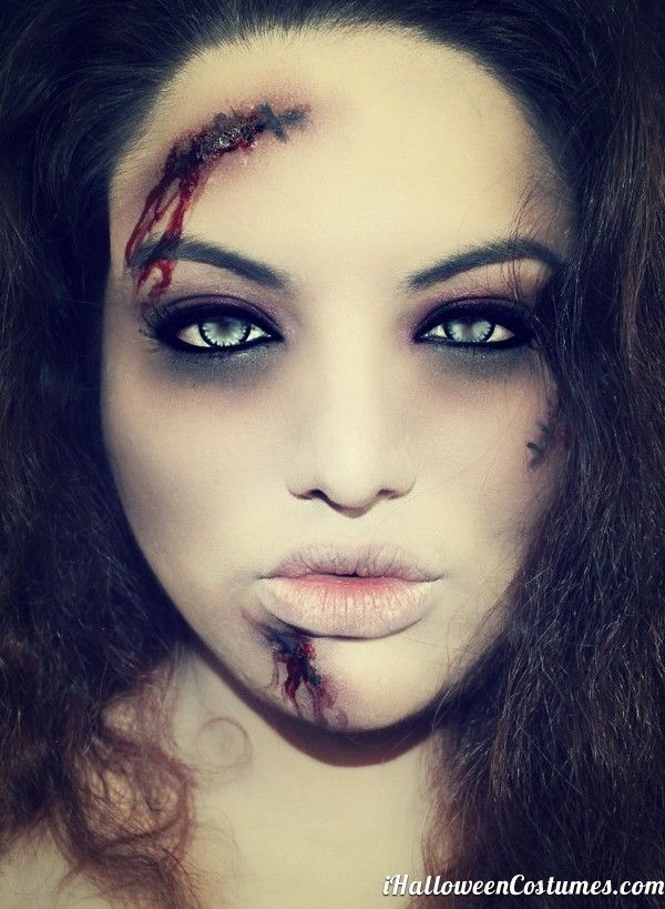 best 25 zombie makeup ideas on pinterest zombie halloween costumes costume zombie and. Black Bedroom Furniture Sets. Home Design Ideas