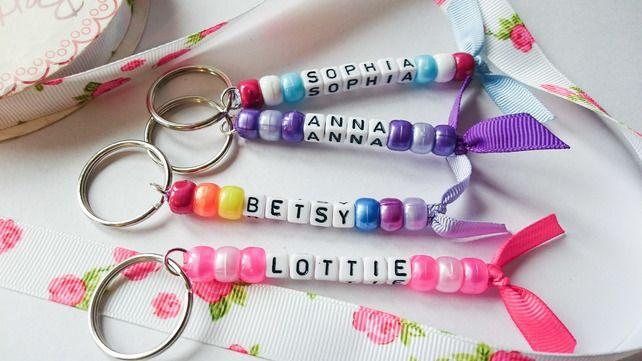 Personalised keyrings, kids name tags, kids name keyrings, school bag tag £1.50