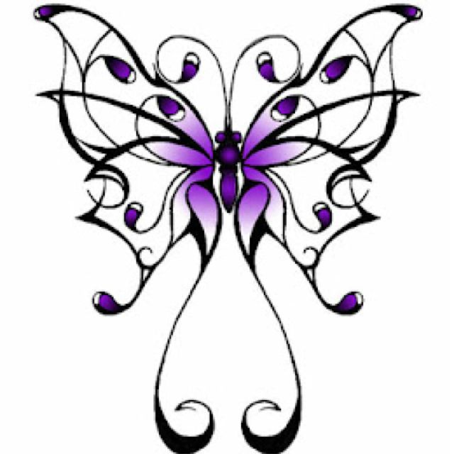 Fibromyalgia Awareness tattoo or change the purple to orange and it could be a Multiple Sclerosis awareness tattoo.