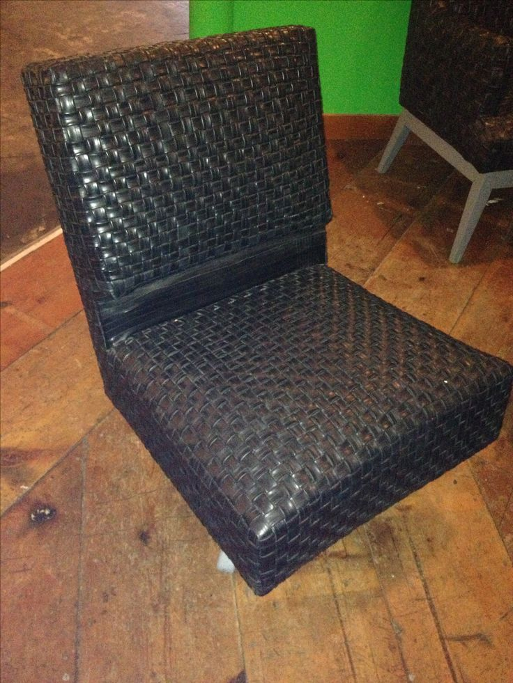 Bicycle inner tube chair  Repurposed and restored  Tire