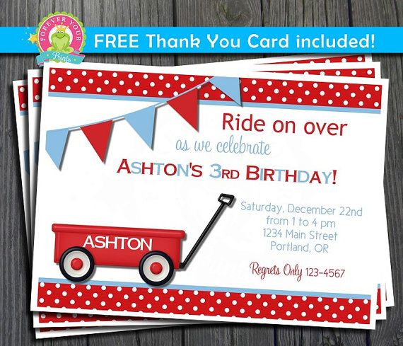 85 best images about invitaciones – Red Wagon Birthday Invitations