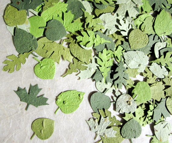 75 best plantable paper images on pinterest seed paper flower 100 plantable leaves wedding favors green confetti leaves woodland wedding favor fall color seed paper leaf table decor mightylinksfo Choice Image