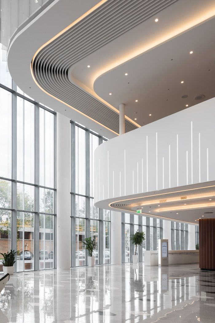 Zaryadye Concert Hall In Moscow With Lobby Interior Design