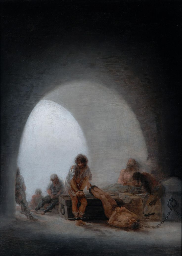 Interior of a Prison, 1793-94, by Goya. Photograph: The Bowes Museum   El Greco to Goya review –tears, shackles and anguish in dark dramas from Spain