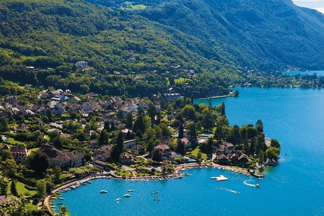 For a beach holiday with a difference, head inland to France's three great Alpine lakes and lap up pristine mountain views and gourmet cuisine