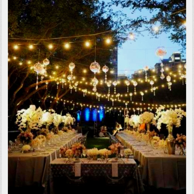 Best outdoor lighting for wedding : Best images about fairylight gardens on