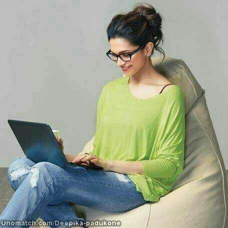 Those glasses and bean bag <3 and Deepika