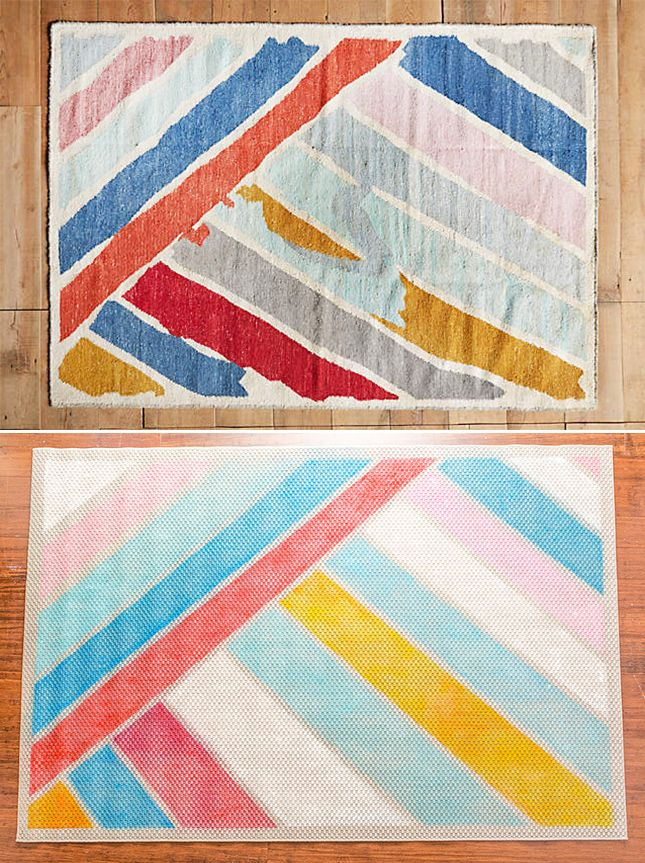 This DIY Anthro rug is super cute and affordable.