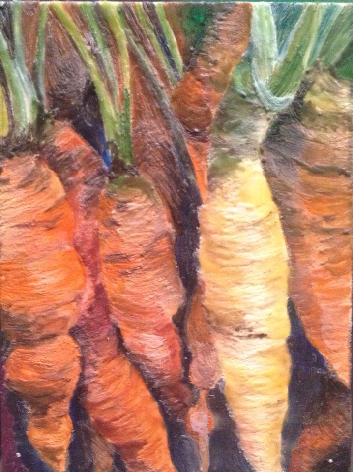 Encaustic carrots.