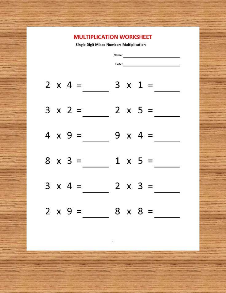 Multiplication Worksheets, Printable worksheets
