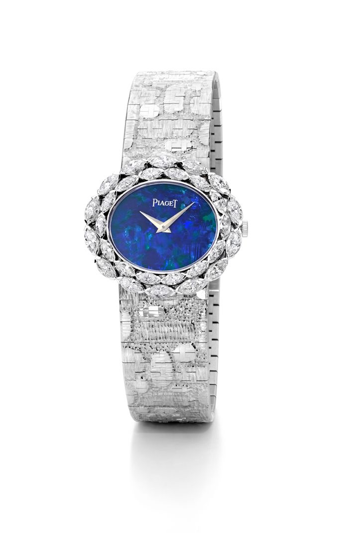 Beautiful jewellery watch in white gold set with 28 # ...