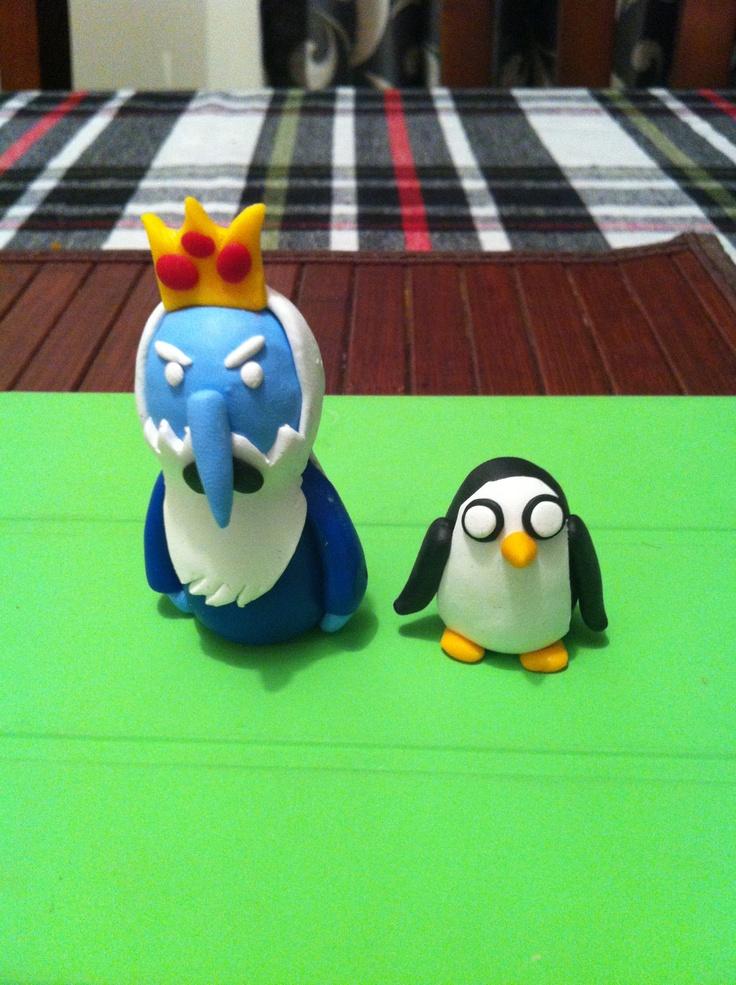 Ice king and Gunter cartoon network