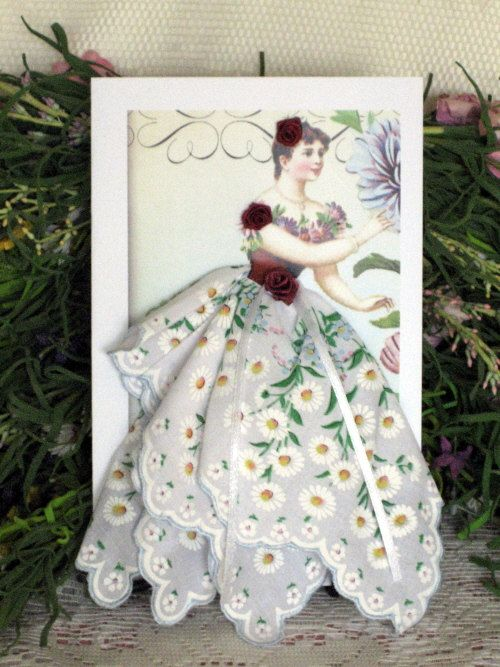 Daisy Fairy Hanky Card by onceuponahanky on Etsy, $10.00