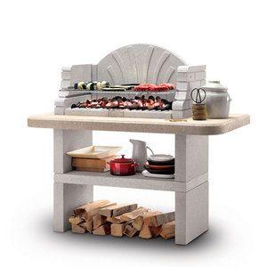 St. Tropez è il barbecue in marmotech Palazzetti solido e resistente, ideale per grigliate all'aperto con amici e famiglia. I combustibili adatti sono legna e carbonella. Consegna al piano <b>non disponibile</b>.