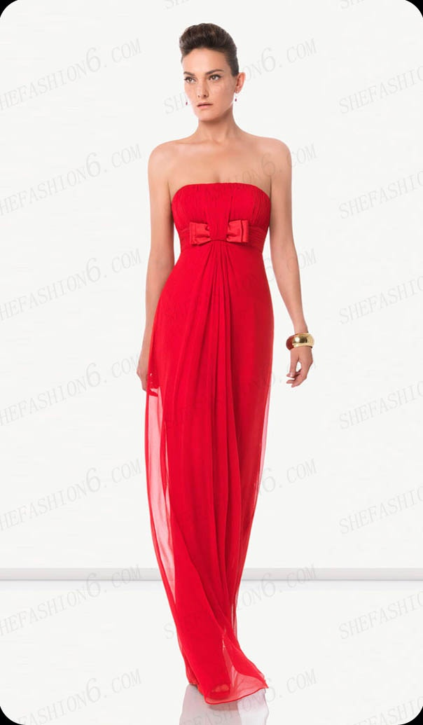http://www.shefashion6.com  Item 2012S0006   Strapless Floor Length Empair Waist Chiffon Cocktail Dress; Real top fabric, competitive price!!!