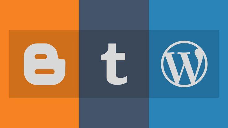 Evergreen Three Best Blogging Platforms: Blogger Tumblr WordPress