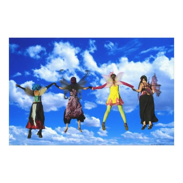 Customizable #Adult #Adults#Only #Bizarre #Composite#Image #Concepts #Costume #Fairy #Fantasy #Fashion #Flying #Full#Length #Holding#Hands #Ideas #Looking#Away #Mid#Adult #Mid#Adult#Women #Mid#Air #Multi#Colored #Only#Women #Outdoors #People #Playful #Rear#View #Sky #Small#Group#Of#People #Topics #Young#Adult #Young#Women Women wearing fairy costumes flying through the canvas print available WorldWide on http://bit.ly/2fWO4Mg