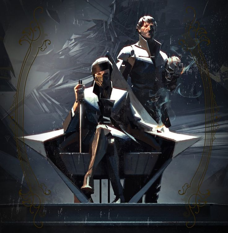 Empress Emily Kaldwin and Lord Corvo Attano - Dishonored 2