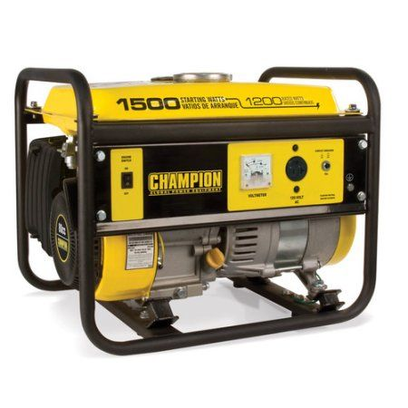 Champion Power Equipment Model 42436, 1200/1500 Watt Portable Gas-Powered Generator Carb, Multicolor