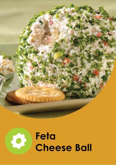 Green onion and red pepper add festive color to this feta and cream cheese appetizer. Walnuts give it a tasty bit of crunch.