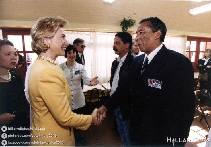 Then-First Lady Hillary Clinton on an official visit to Uruguay. #hillaryclinton #hillary2016 #hillaryrodhamclinton #hrc #hillaryforpresident #flotus #firstlady
