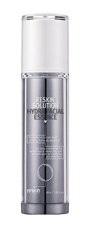 KOREAN COSMETICS, reSkin, Solutions Hydra Facial Essence 40ml (skin renewable effect, water supply, nutrition grant) [001KR] by reSkin. $140.00. Note to the first users : If you have  not used this item before, try the cosmetic with small amount on your skin. If you find any trouble with the product, please stop using and discuss with your skin expert or doctor. If you have any allergy or trouble with the ingredients of product, please do not use it. We recomm...