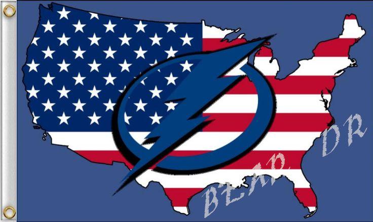 Тампа-Бэй Лайтнинг логотип, флаг 3x5ft полиэстер баннер НХЛ Тампа-Бэй Лайтнинг флаг США флаг 150*90 см Бесплатная Доставка