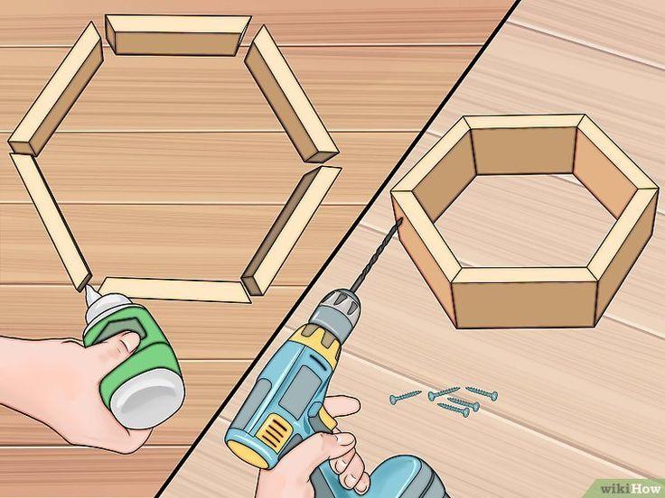shelves Bilden Sie selbst gemachte Bienenwaben-Regale