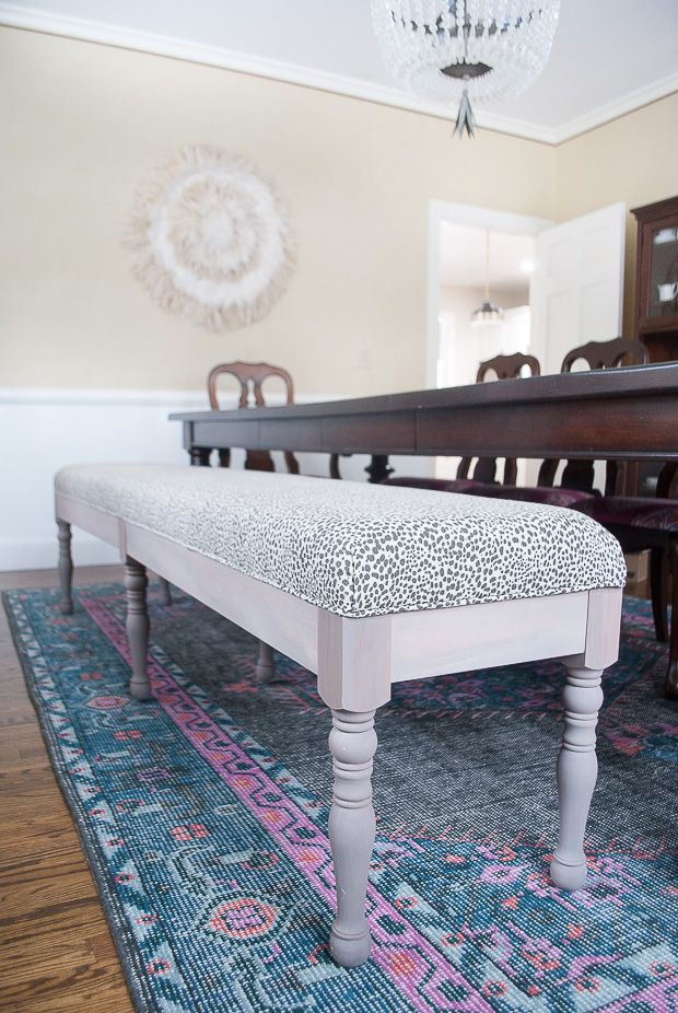 Cool DIY Upholstered Dining Bench