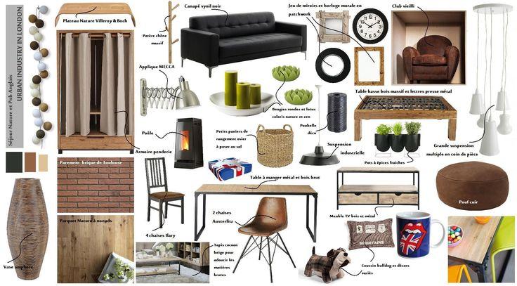 planche de style pour s jour ambiance chaleureuse. Black Bedroom Furniture Sets. Home Design Ideas