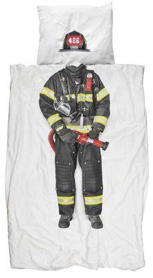 Parure de lit Pompier / 1 personne - 140 x 200 cm