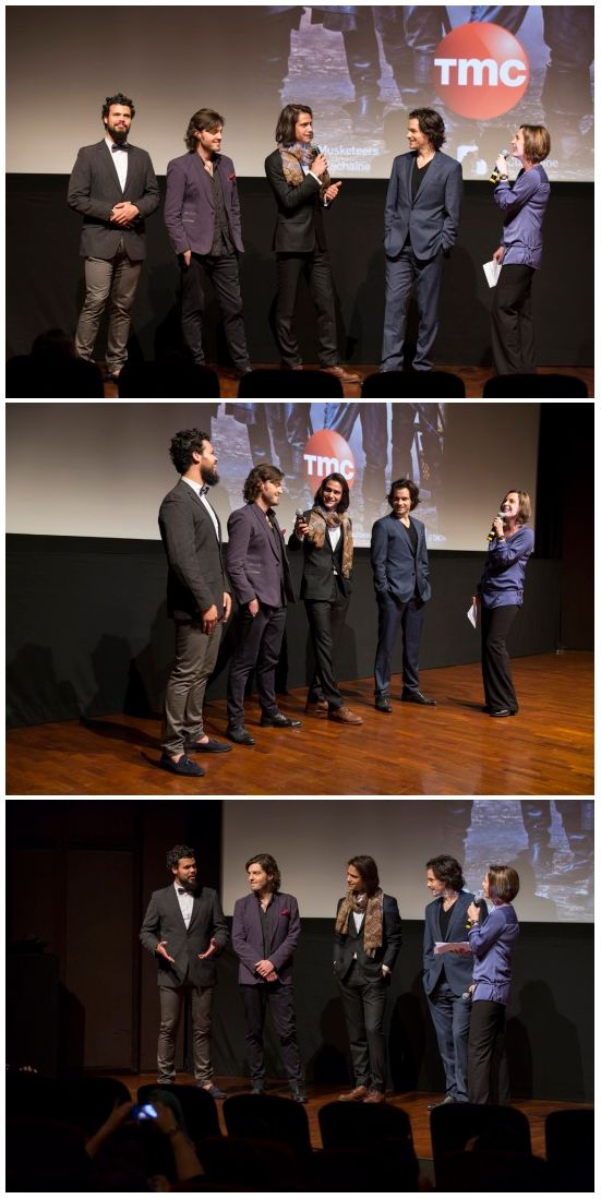 More photos with The Musketeers cast attending the season one premiere in Paris | 10/12/2014